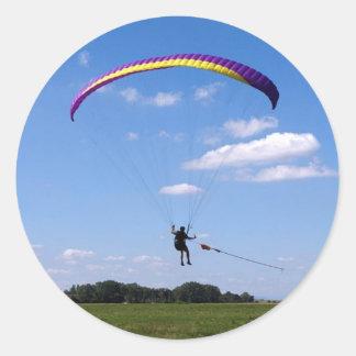 Paraglider Classic Round Sticker
