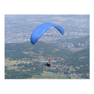 Paraglider over Clermont Postcard