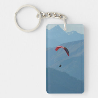 Paraglider Paragliding Mountains Key Ring