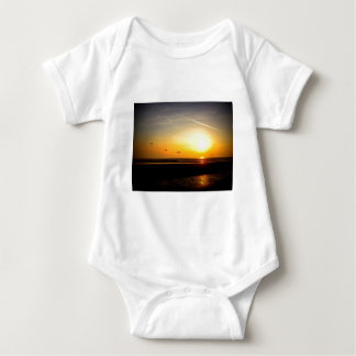 Paragliders enjoying the Sunset Baby Bodysuit