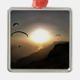 Paragliders Flying Without Wings Christmas Ornament