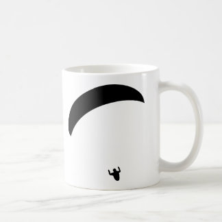paragliding black icon coffee mug