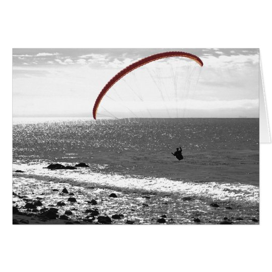 Paragliding By The Ocean - Customisable Card