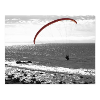 Paragliding By The Ocean Postcard