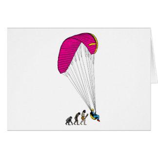 Paragliding Greeting Card