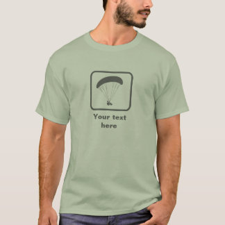 Paragliding -- Grey Logo -- Customizable T-Shirt