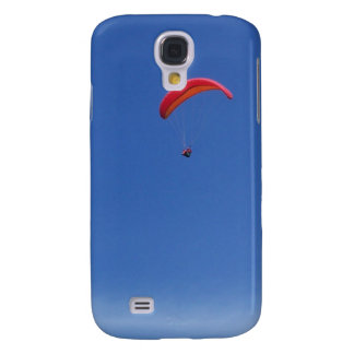 Paragliding in Blue Sky with Red Wing Galaxy S4 Case