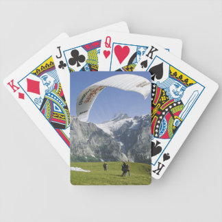Paragliding in the mountains bicycle playing cards