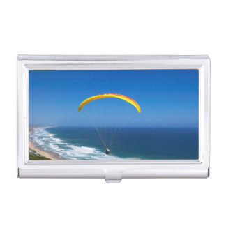 Paragliding Near Wilderness, Garden Route Business Card Holder