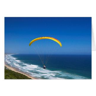 Paragliding Near Wilderness, Garden Route Greeting Card