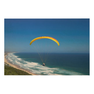 Paragliding Near Wilderness, Garden Route Wood Wall Art
