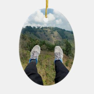 Paragliding over Medellin Christmas Ornament