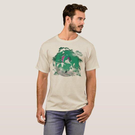 PARAGLIDING PG-CIRCLE 003 Ponto Central T-Shirt