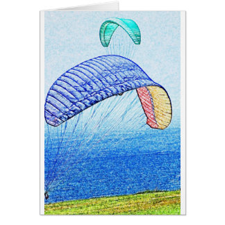 Paragliding Soaring Greeting Card