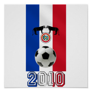 Paraguay 2010 flag of Paraguay soccer ball gifts Poster