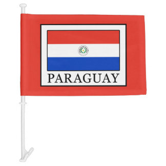 Paraguay Car Flag