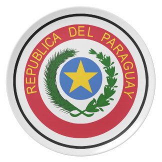 """Paraguay COA"" Party Plates"
