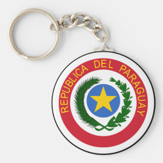 Paraguay Coat Of Arms Basic Round Button Key Ring