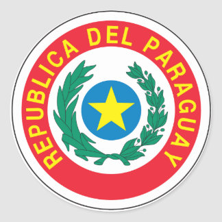 Paraguay Coat of Arms Classic Round Sticker