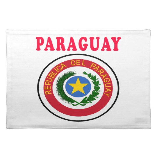 Paraguay Coat Of Arms Designs Placemats