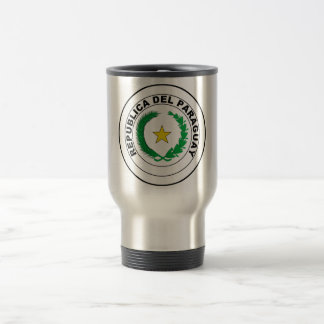 Paraguay Coat of Arms 15 Oz Stainless Steel Travel Mug