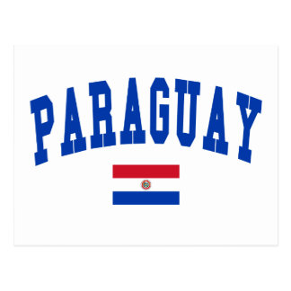 Paraguay College Style Postcard