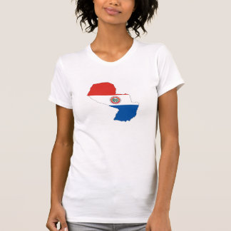 paraguay country flag map shape silhouette T-Shirt