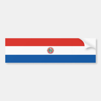 Paraguay country flag nation symbol bumper sticker