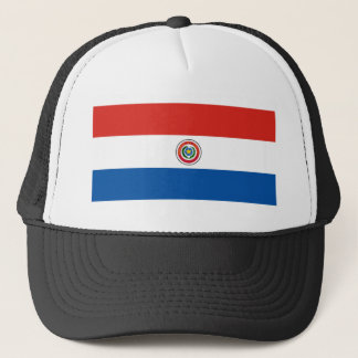 Paraguay country flag nation symbol trucker hat