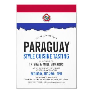 Paraguay Cuisine   Party Flag White Invite