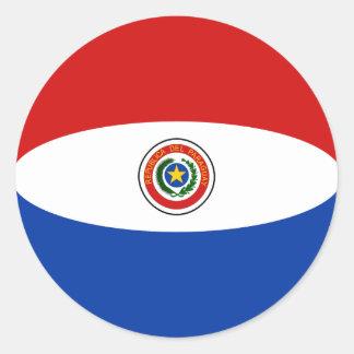 Paraguay Fisheye Flag Sticker