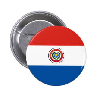 Paraguay flag 6 cm round badge