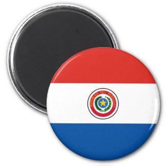 Paraguay flag 6 cm round magnet