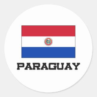 Paraguay Flag Classic Round Sticker