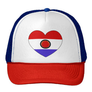 Paraguay Flag Heart Cap