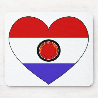 Paraguay Flag Heart Mouse Mat