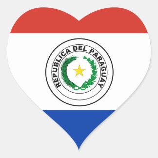 Paraguay Flag Heart Sticker