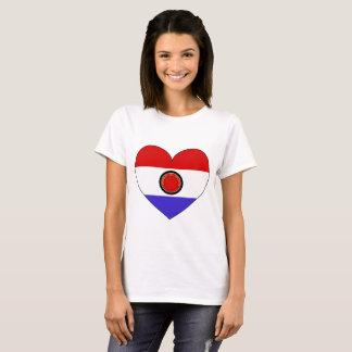 Paraguay Flag Heart T-Shirt