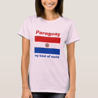 Paraguay Flag + Map + Text T-Shirt