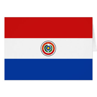 Paraguay Flag Notecard