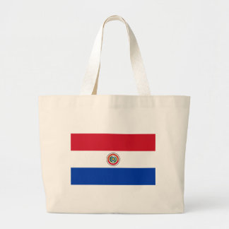 Paraguay Flag Products Large Tote Bag