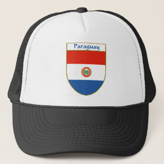 Paraguay Flag Shield Trucker Hat