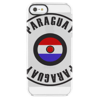Paraguay Flag Simple Clear iPhone SE/5/5s Case