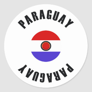 Paraguay Flag Simple Round Sticker