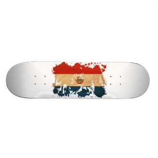 Paraguay Flag Skate Deck