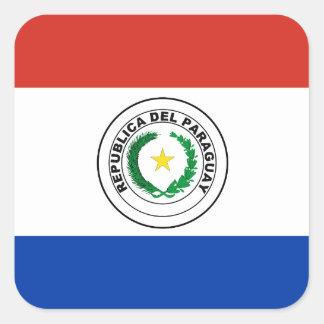 Paraguay Flag Square Sticker