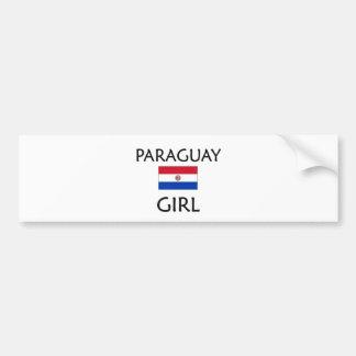 PARAGUAY GIRL BUMPER STICKER