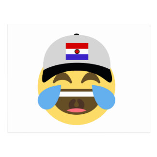 Paraguay Hat Laughing Emoji Postcard