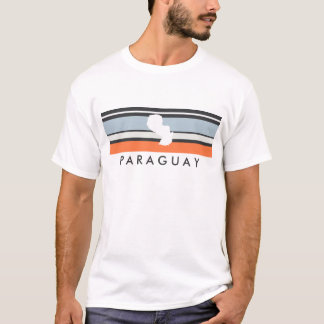 Paraguay Map: Modern Stripes T-Shirt