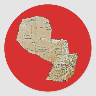 Paraguay Map Sticker